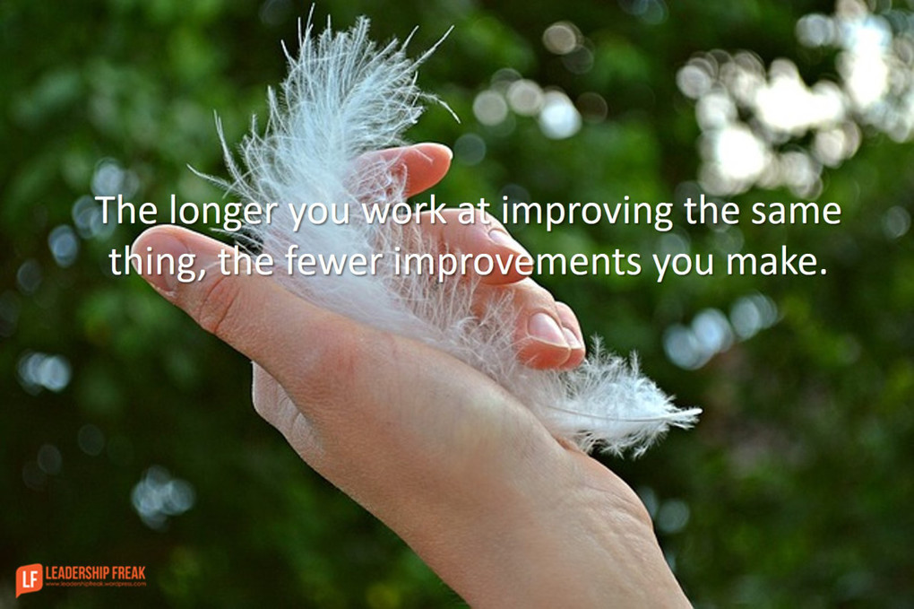 The Longer you Work at Improving the Same Thing, the Fewer Improvements you Make