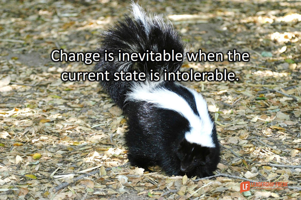 The Principle of the Skunk: Where Change Really Begins