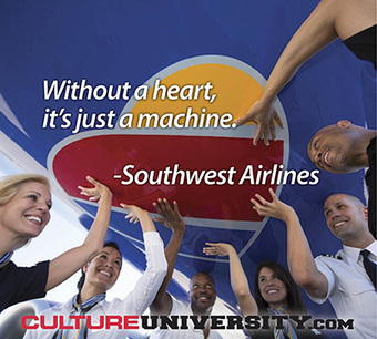 Culture lessons from Southwest Airlines on values, employees first, and more
