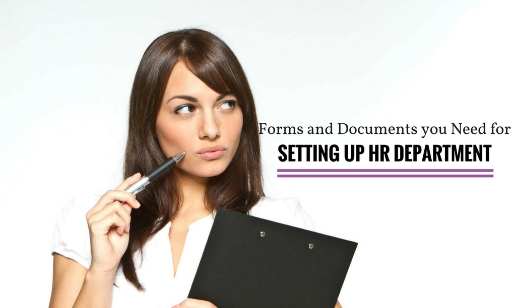 Forms and Documents you Need for Setting up HR Department – WiseStep