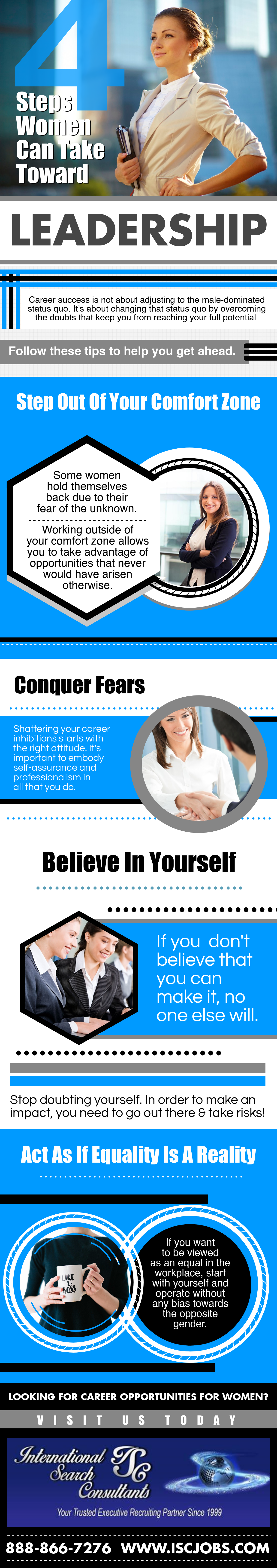 Infographic: 4 Steps Women Can Take to Gain Leadership Roles