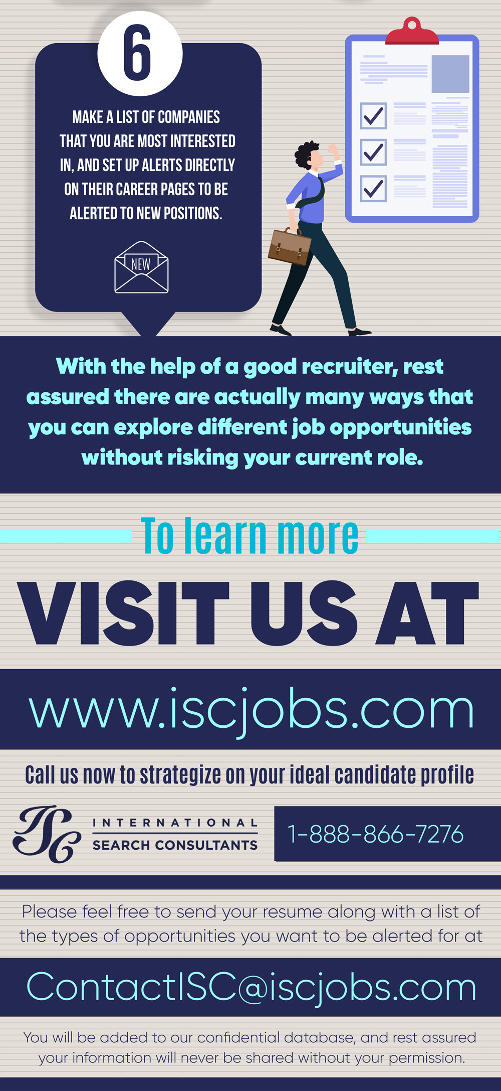 Infographic: 6 Ways to Search for a Job When Currently Employed