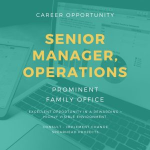 Senior Manager, Operations / Project Manager- Plymouth Meeting, PA