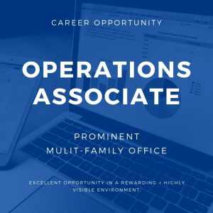 Operations Associate – San Francisco Bay area / Marin County