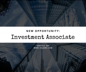 Investment Associate Seattle, WA