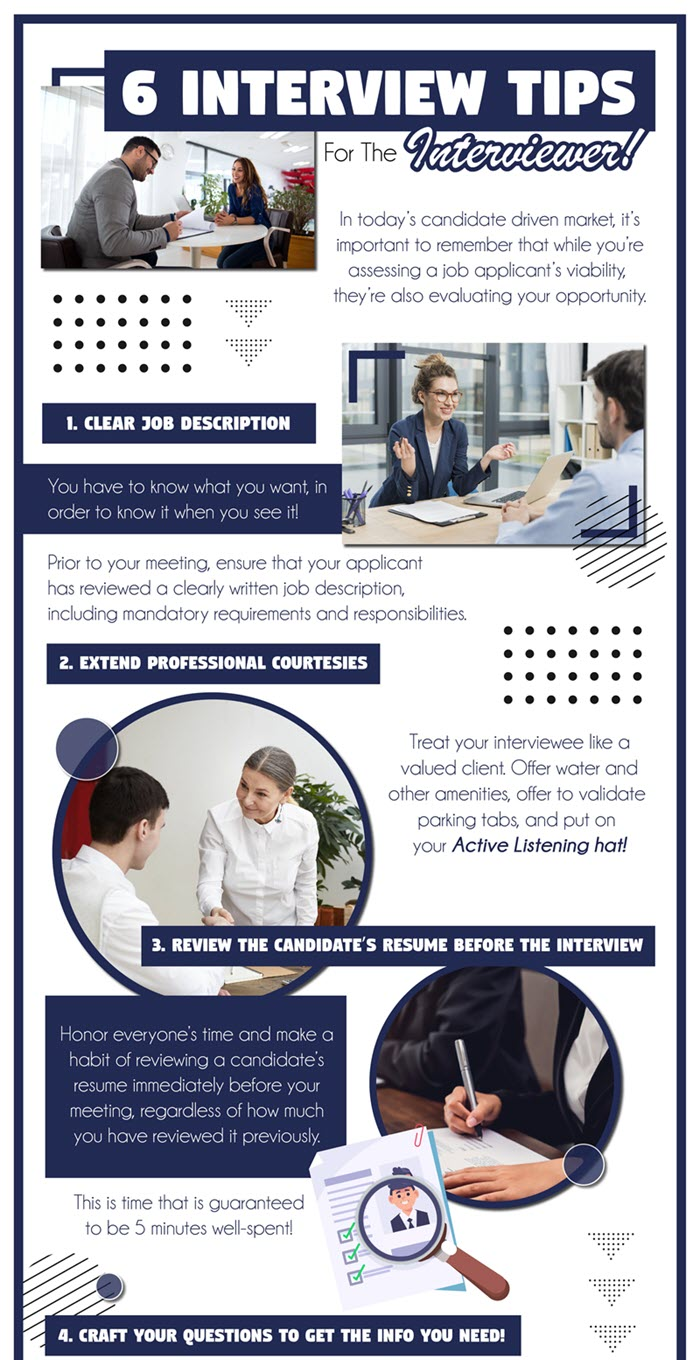 6 interview tips for the interviewer!